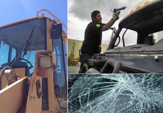 Glass Repair for Heavy Equipment and Semi-Trucks